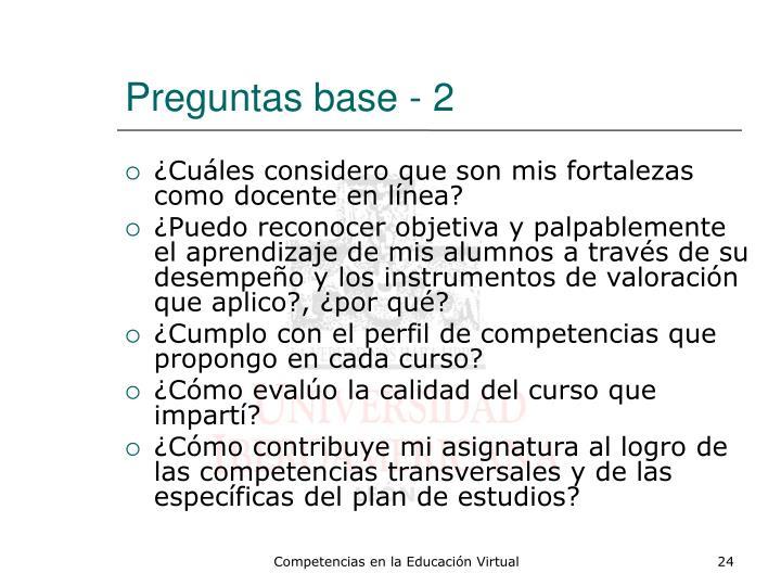 Preguntas base - 2