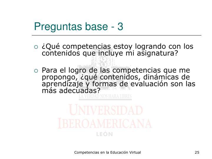 Preguntas base - 3