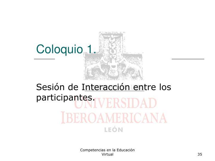 Coloquio 1.
