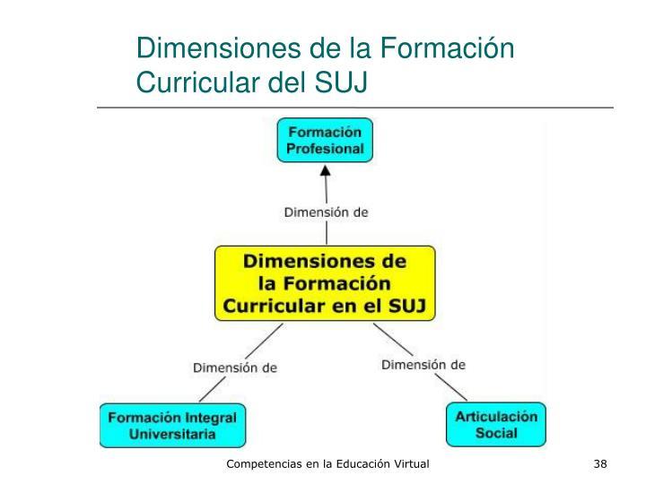 Dimensiones de la Formación Curricular del SUJ