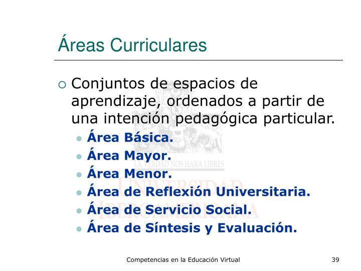 Áreas Curriculares