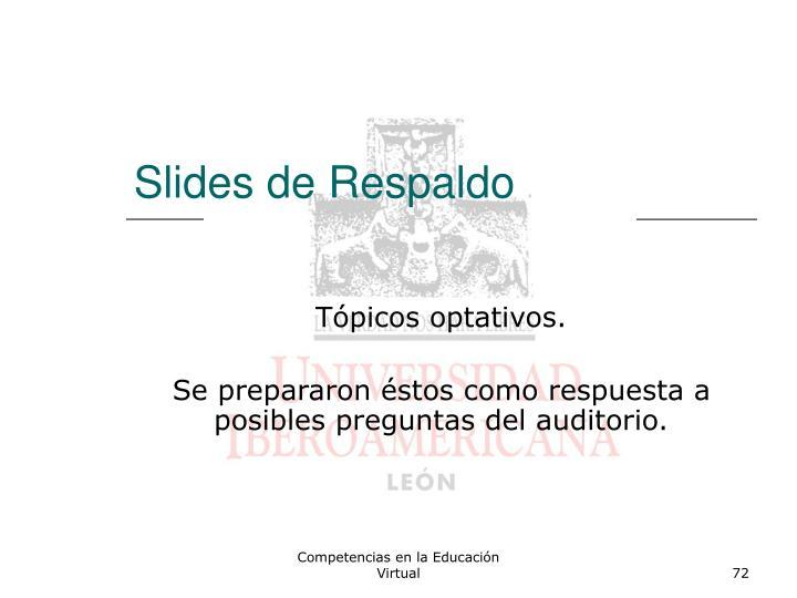 Slides de Respaldo