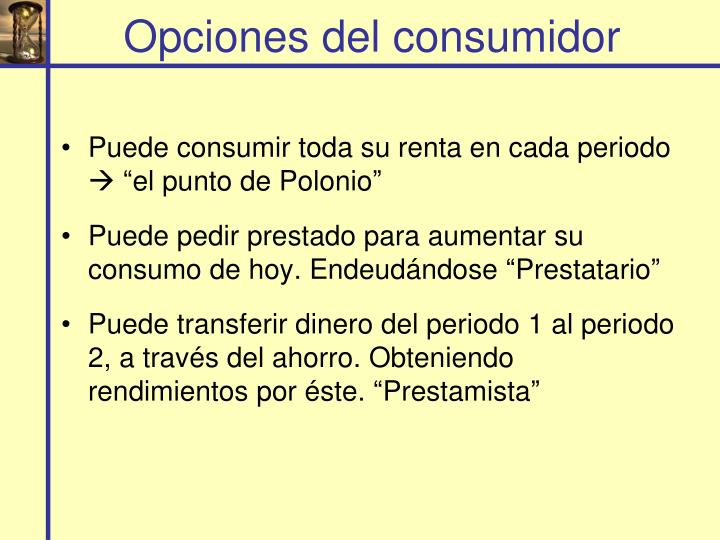 Opciones del consumidor