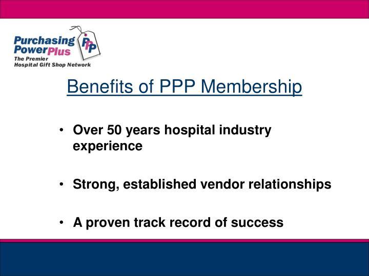 Benefits of PPP Membership