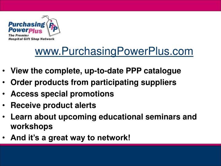 www.PurchasingPowerPlus.com