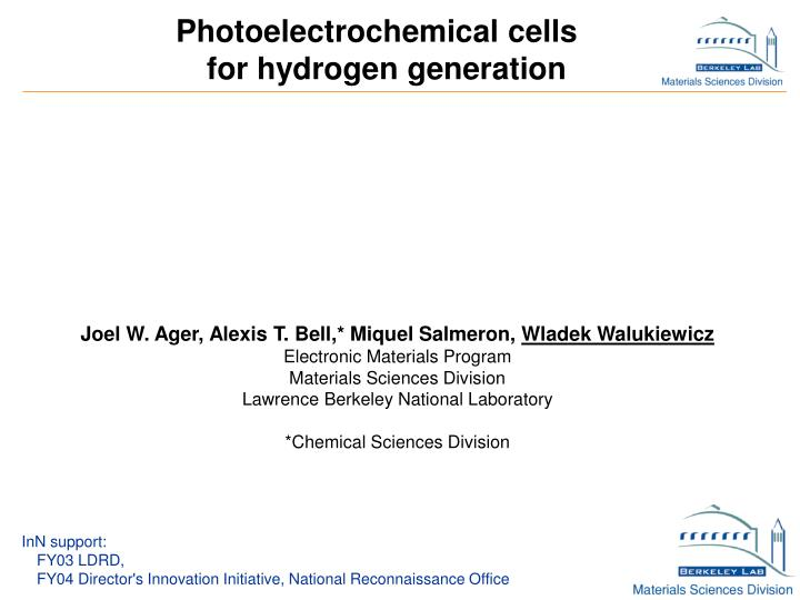 Photoelectrochemical cells