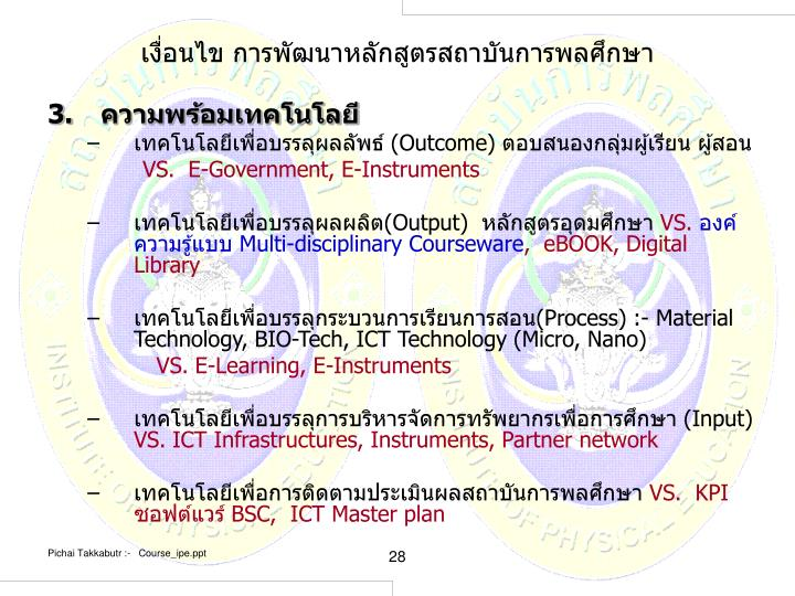 เงื่อนไข การพัฒนาหลักสูตรสถาบันการพลศึกษา