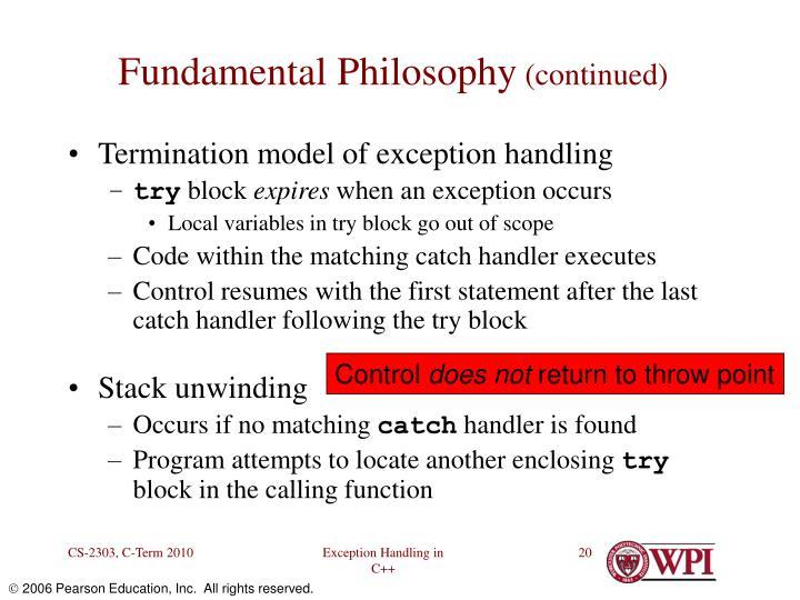 Fundamental Philosophy