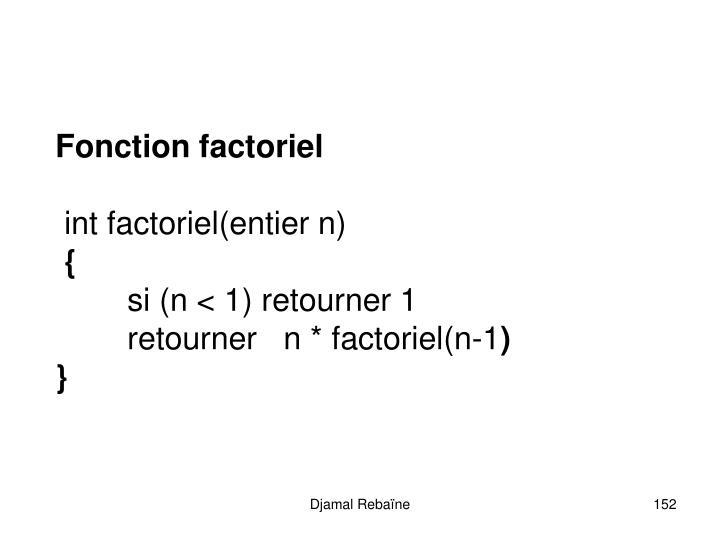 Fonction factoriel