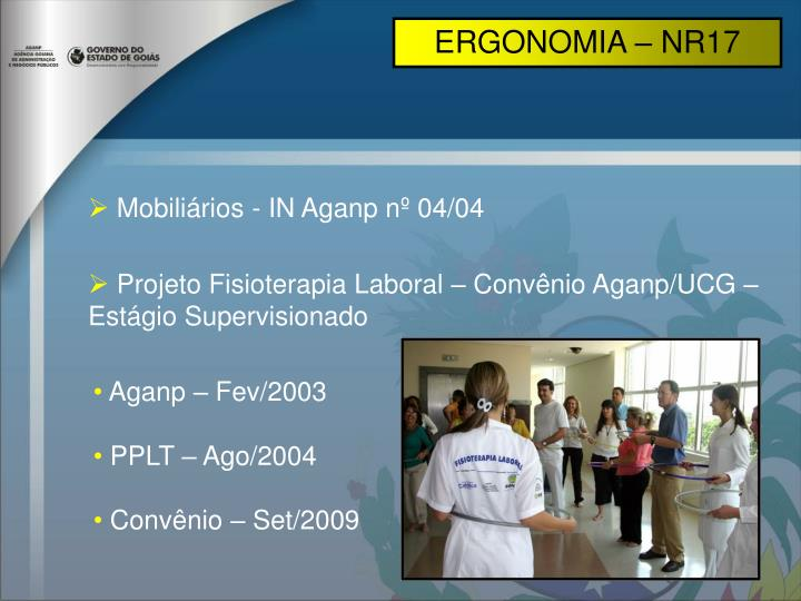 ERGONOMIA – NR17
