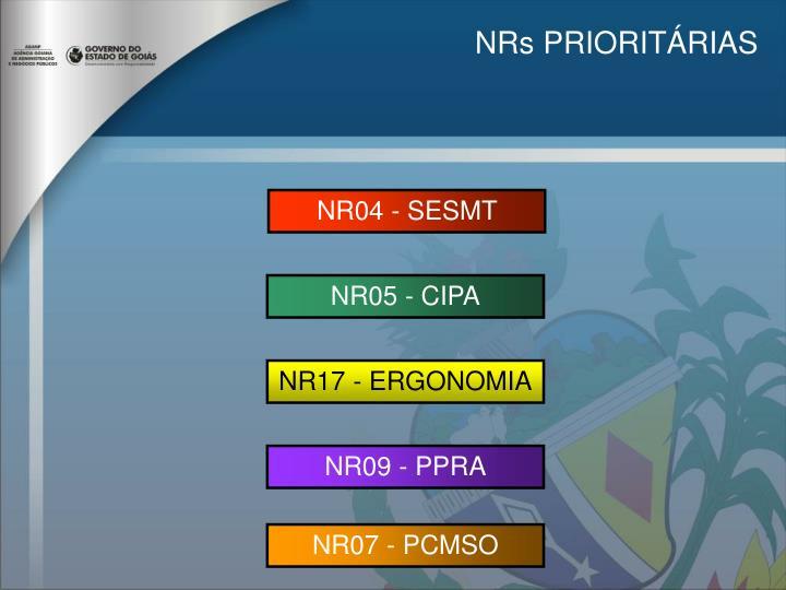 NRs PRIORITÁRIAS