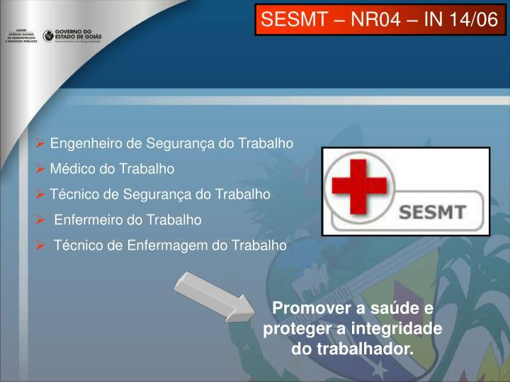SESMT – NR04 – IN 14/06