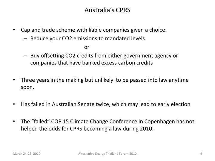 Australia's CPRS