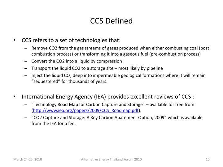 CCS Defined