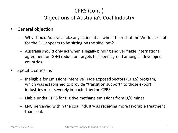 CPRS (cont.)
