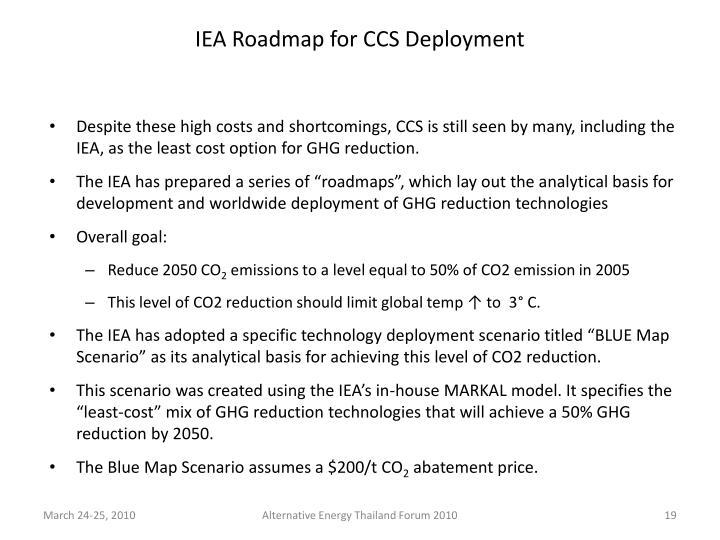 IEA Roadmap for CCS Deployment