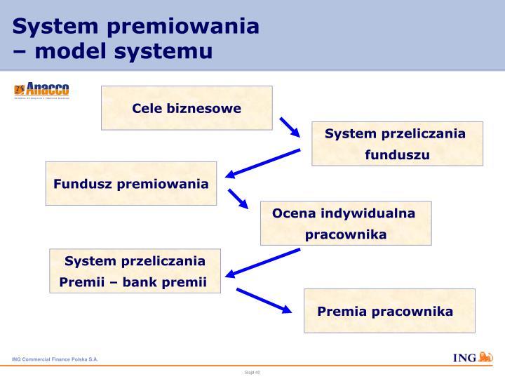 System premiowania