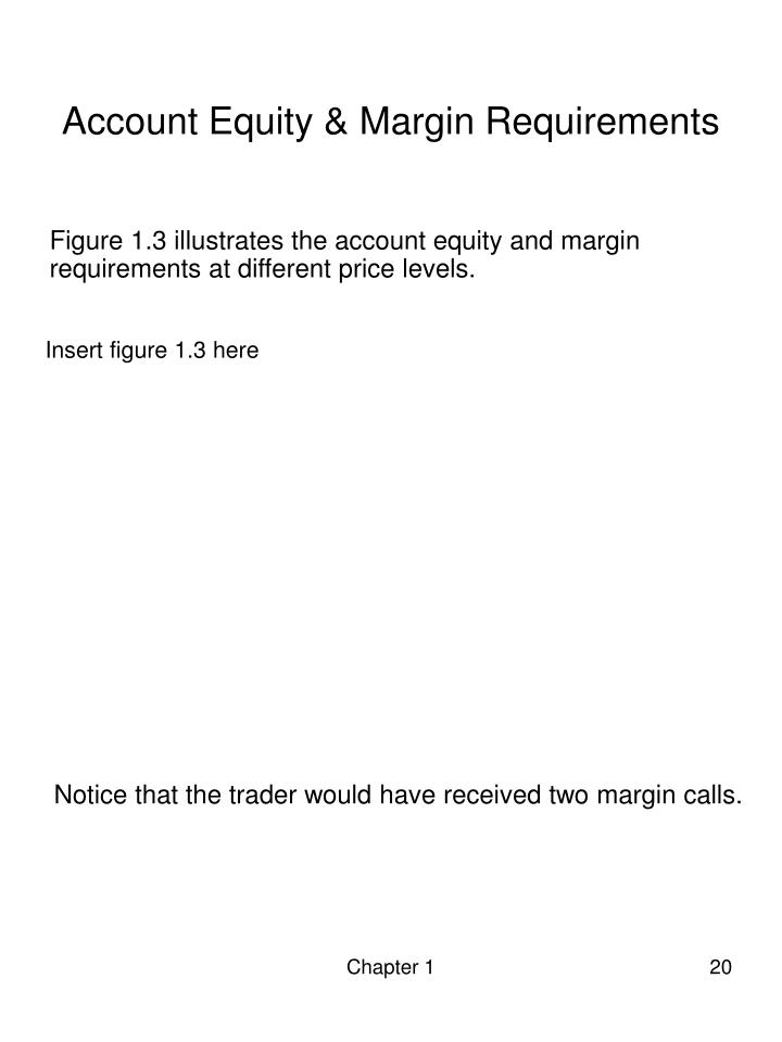 Account Equity & Margin Requirements