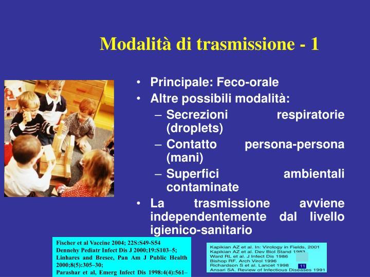 Modalità di trasmissione - 1