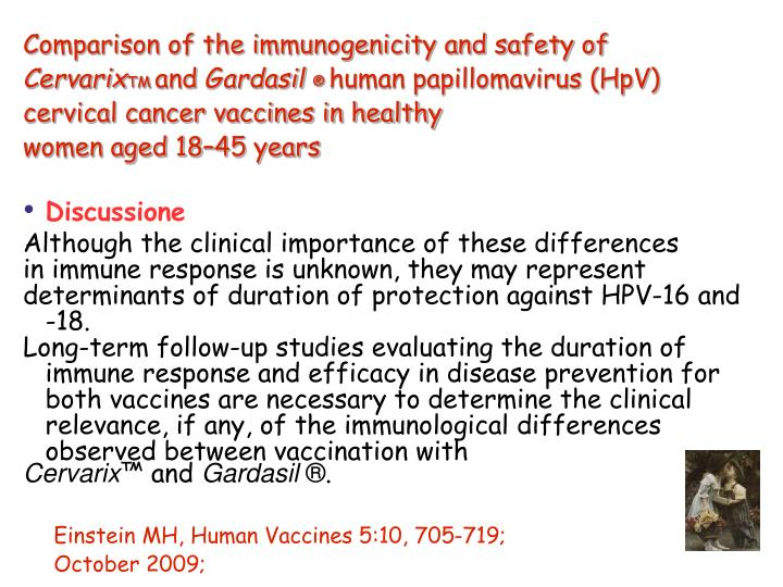 Comparison of the immunogenicity and safety of