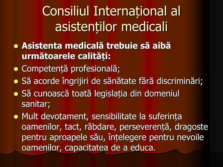 Consiliul Internațional al asistenților medicali