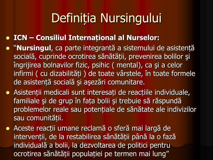 Definiția Nursingului