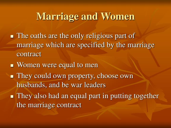 Marriage and Women