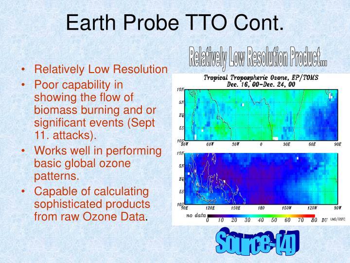 Earth Probe TTO Cont.