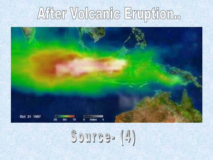 After Volcanic Eruption..