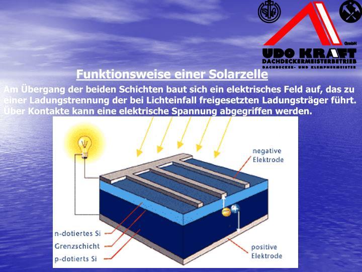 Funktionsweise einer Solarzelle