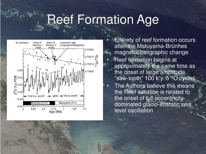 Reef Formation Age