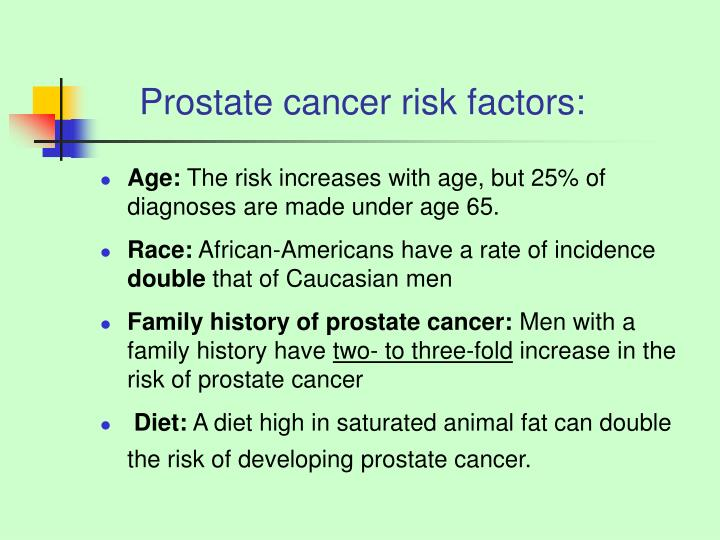 Prostate cancer risk factors: