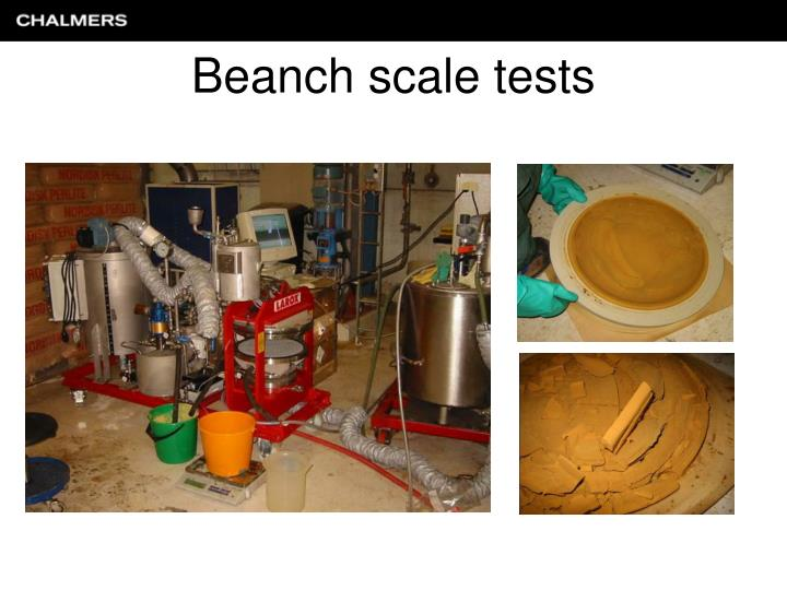 Beanch scale tests