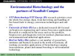 environmental biotechnology and the partners of scanbalt campus2