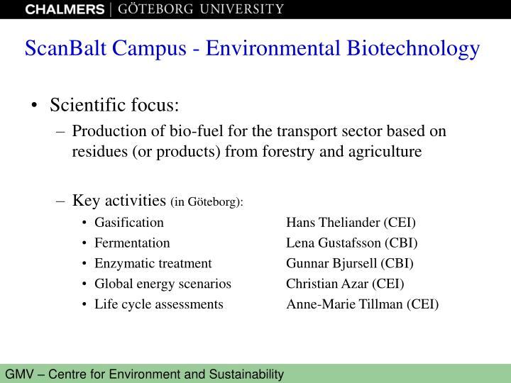 Scientific focus: