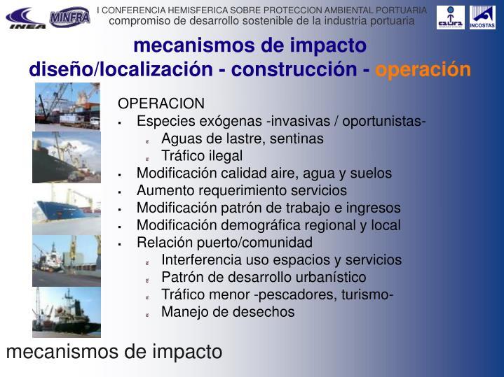 mecanismos de impacto