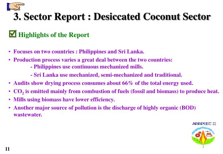 3. Sector Report : Desiccated Coconut Sector