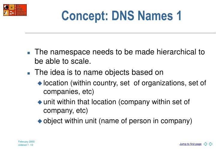 Concept: DNS Names 1