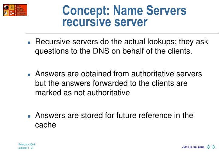 Concept: Name Servers