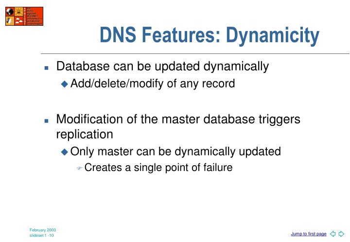 DNS Features: Dynamicity