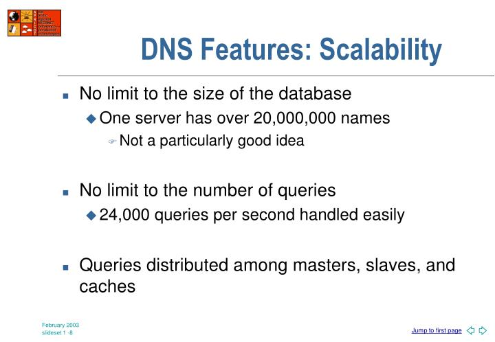 DNS Features: Scalability