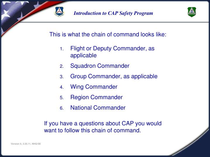 This is what the chain of command looks like: