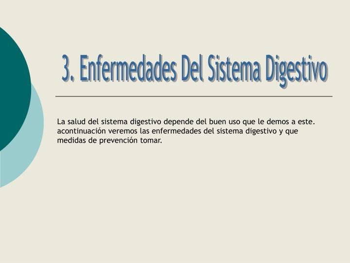 3. Enfermedades Del Sistema Digestivo
