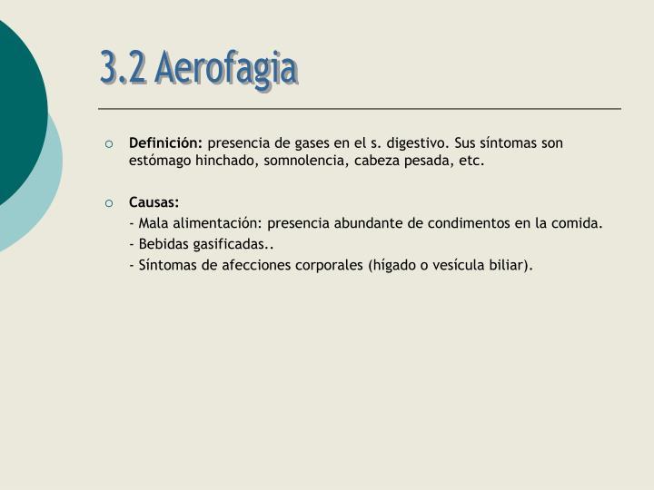3.2 Aerofagia