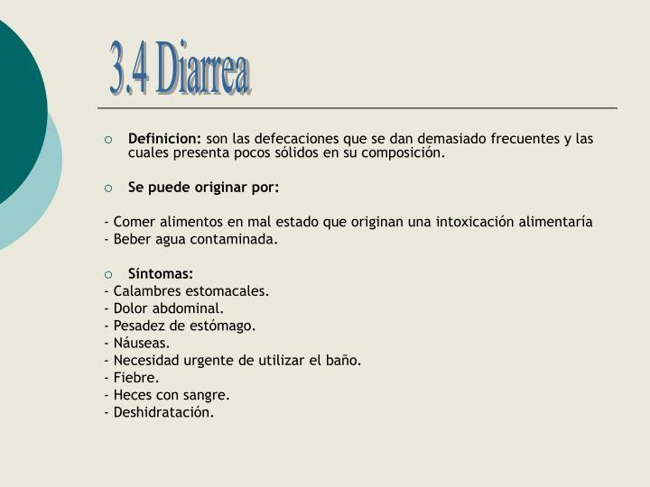 3.4 Diarrea