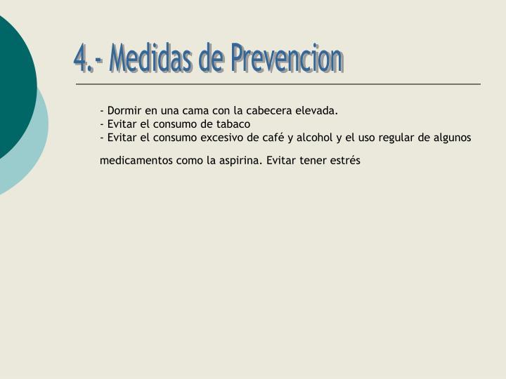 4.- Medidas de Prevencion