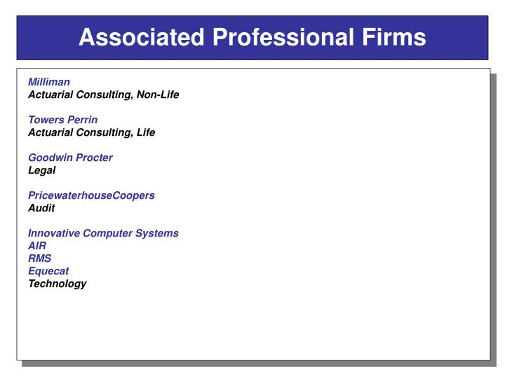 Associated Professional Firms