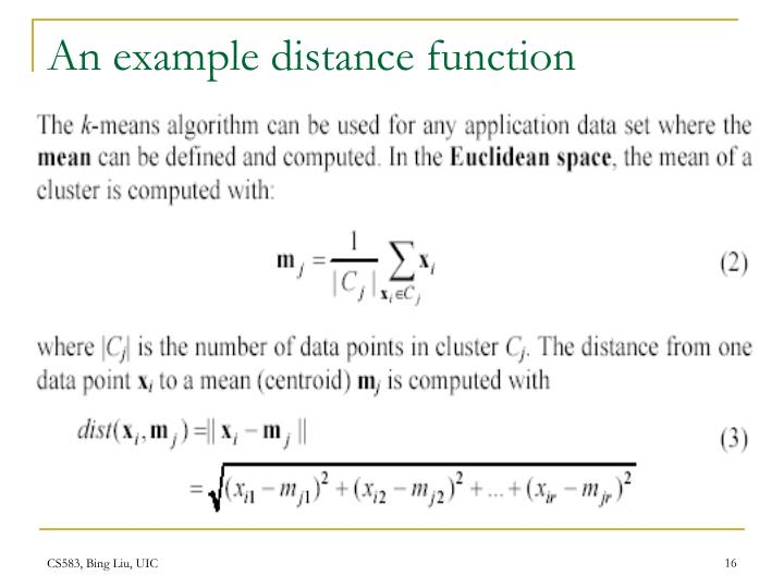 An example distance function