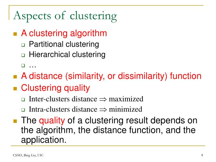 Aspects of clustering
