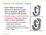 clusters of arbitrary shapes